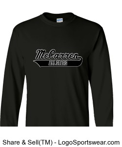 McCarren All Stars 100% Heavyweight Ultra Cotton Long Sleeve Adult T-Shirt Design Zoom