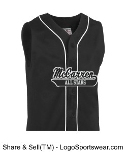 Adult Sleeveless Pro Weight 14 Oz. 6-Button Baseball Design Zoom