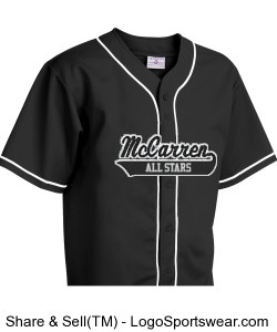 McCarren All Stars Pro Weight 14 Oz. 6-Button Jersey Design Zoom